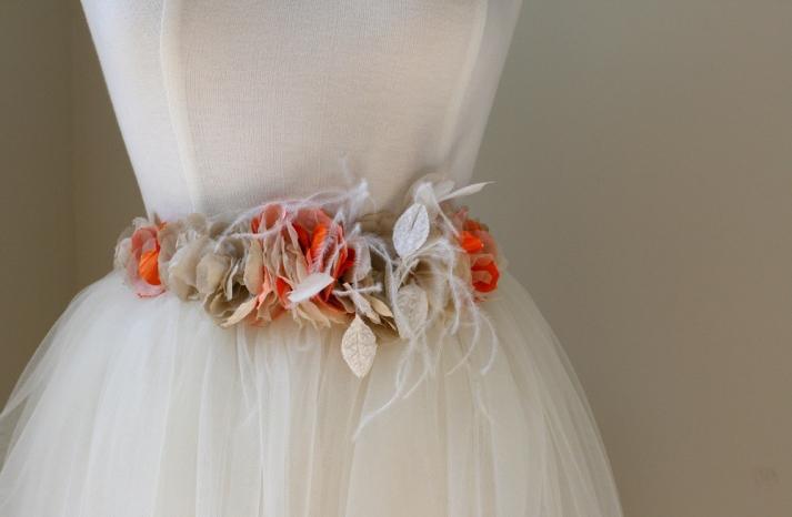 handmade wedding finds for fall weddings elegant sash