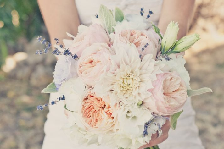 elegant real weddings lavender peach wedding colors romantic bridal bouquet