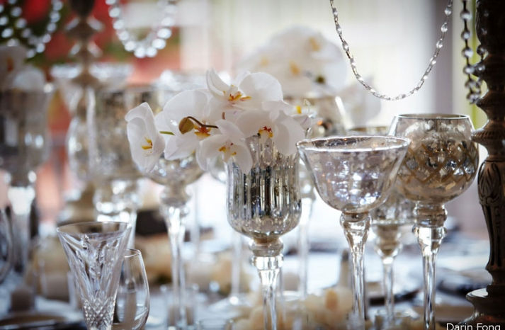 elegant wedding reception decor centerpiece vases Mercury Glass 1