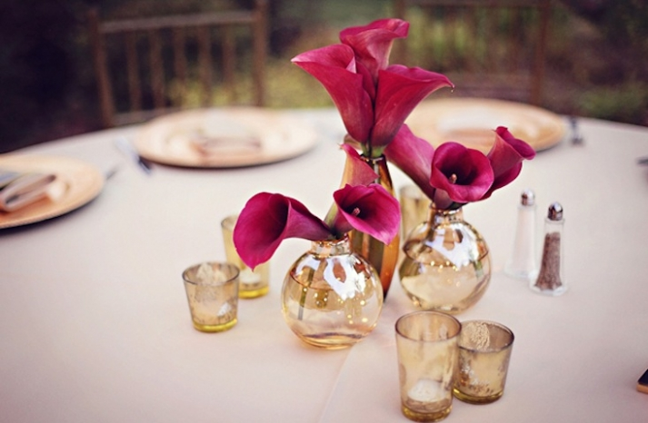 elegant wedding reception decor centerpiece vases Mercury Glass 1o