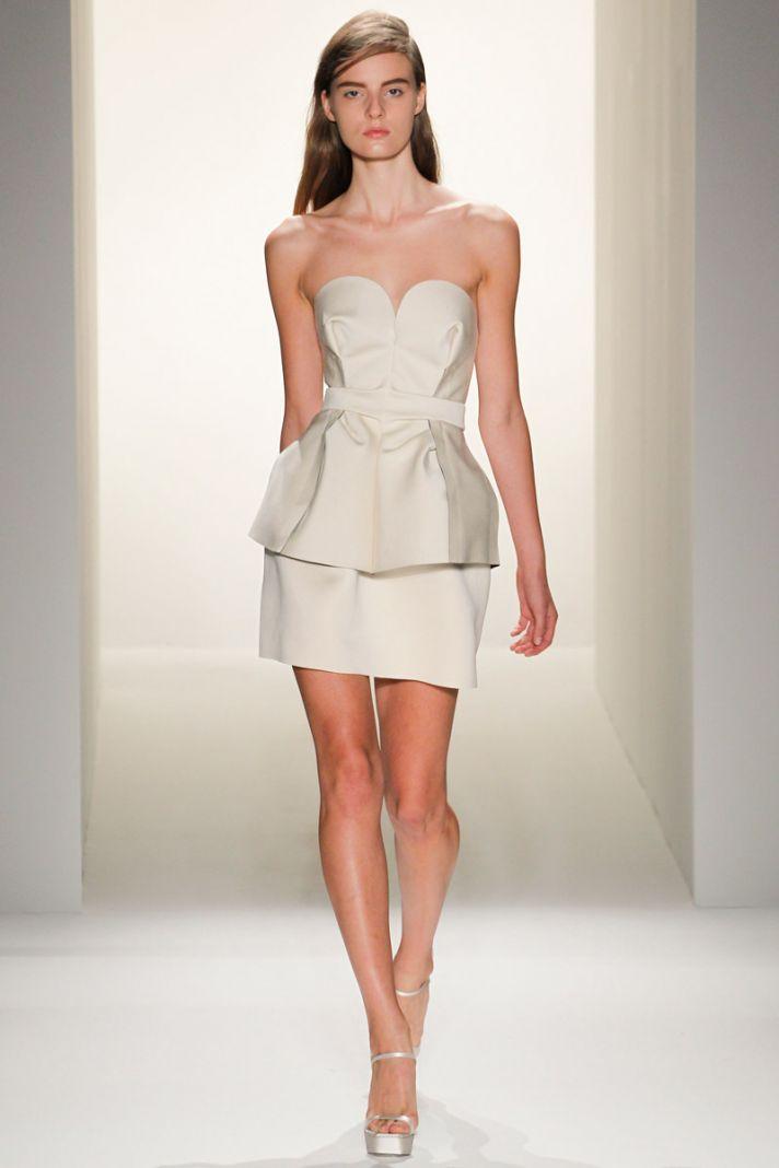 catwalk to white aisle wedding style inspiration for brides New York Fashion Week Calvin Klein 5