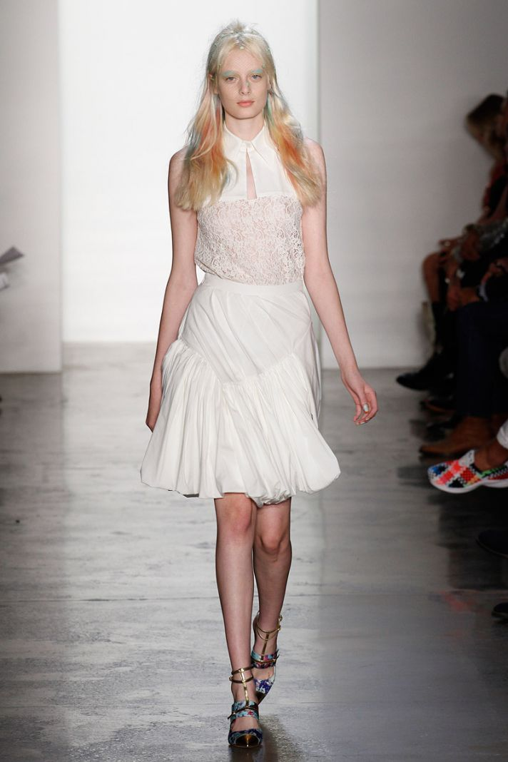 catwalk to white aisle wedding style inspiration for brides New York Fashion Week Peter Som