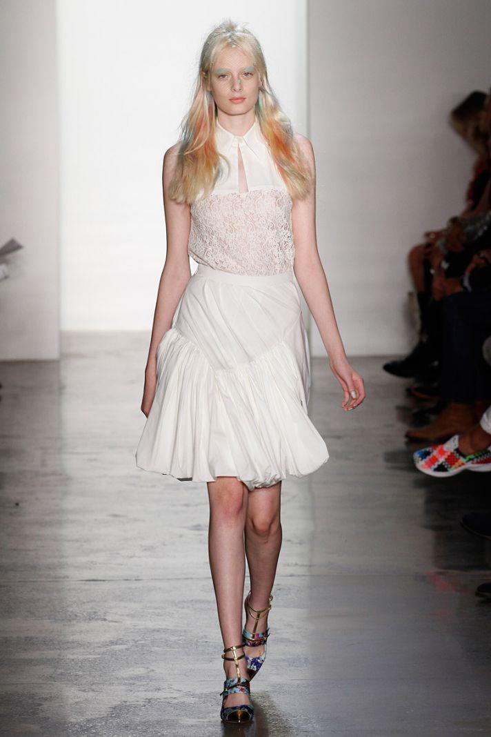 catwalk to white aisle wedding style inspiration for brides New York Fashion Week Peter Som