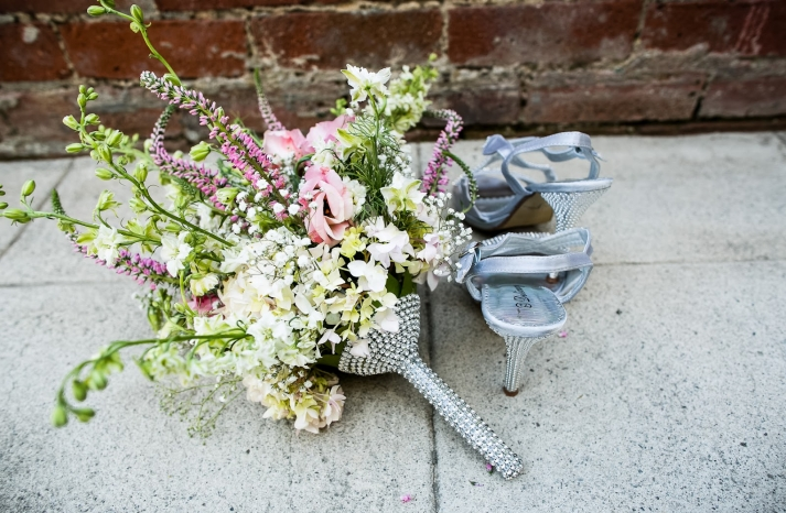 California wedding San Francisco mansion venue elegant bridal inspiration bouquet shoes