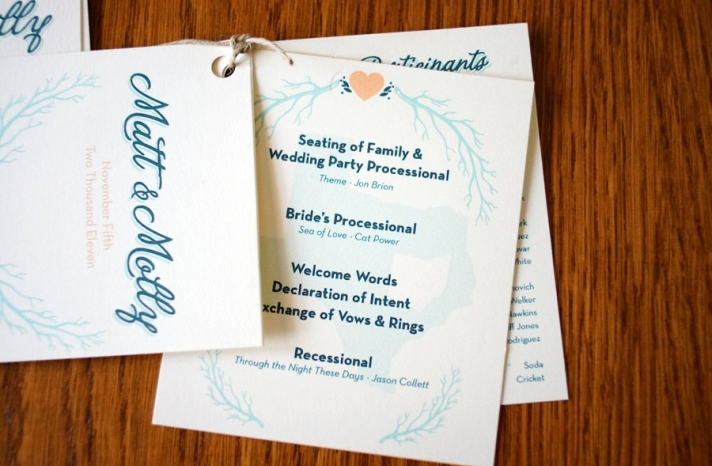 wedding invitation inspiration ceremony program handmade weddings by Etsy pocket sized 2