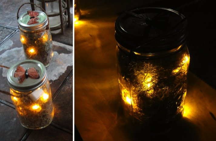 handmade wedding finds for Halloween themed I Dos mason jar luminaries