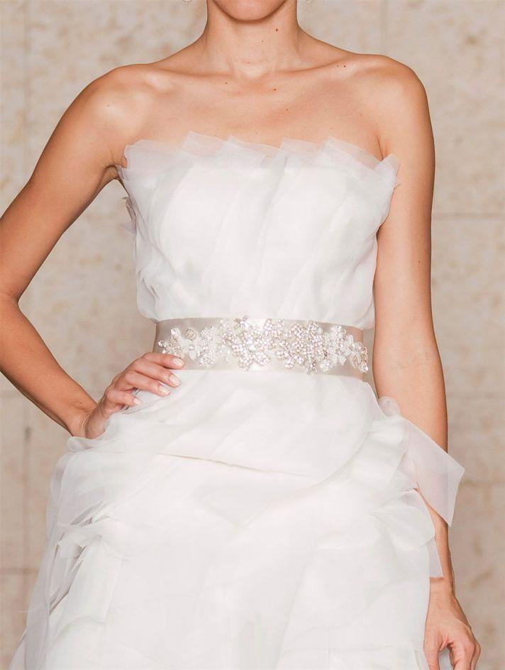 bridal shoes Oscar de la Renta wedding heels beaded bridal belt