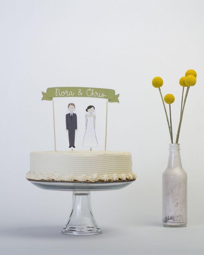 creative wedding cake toppers on Etsy Pinterest 1