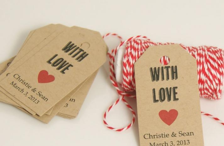handmade wedding stationery decor using kraft paper Etsy weddings favor tags 1