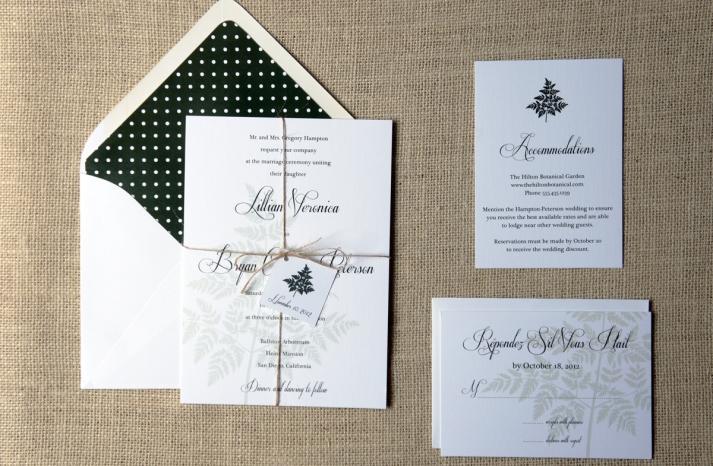 wedding inspiration from Etsy polka dots BLACK WHITE INVITATION