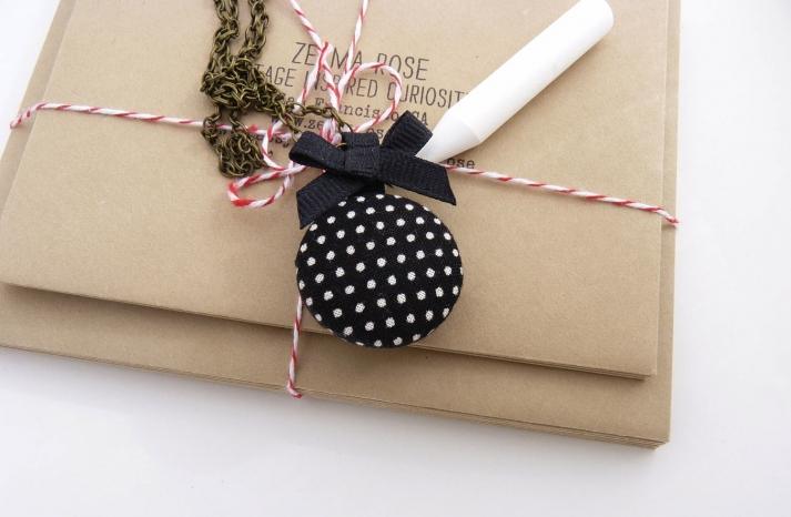 wedding inspiration from Etsy polka dots custom locket for bridesmaids