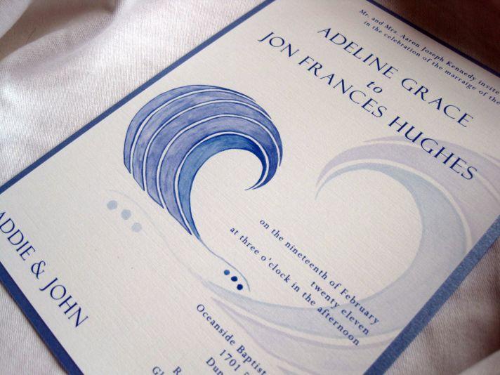watercolor wedding invitations handmade weddings by Etsy beach wedding