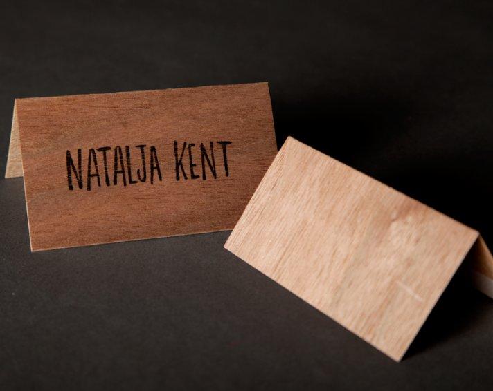wood wedding escort cards rustic theme
