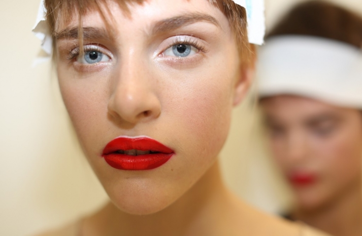 bridal beauty inspiration wedding day makeup Prada Milan fashion week 2