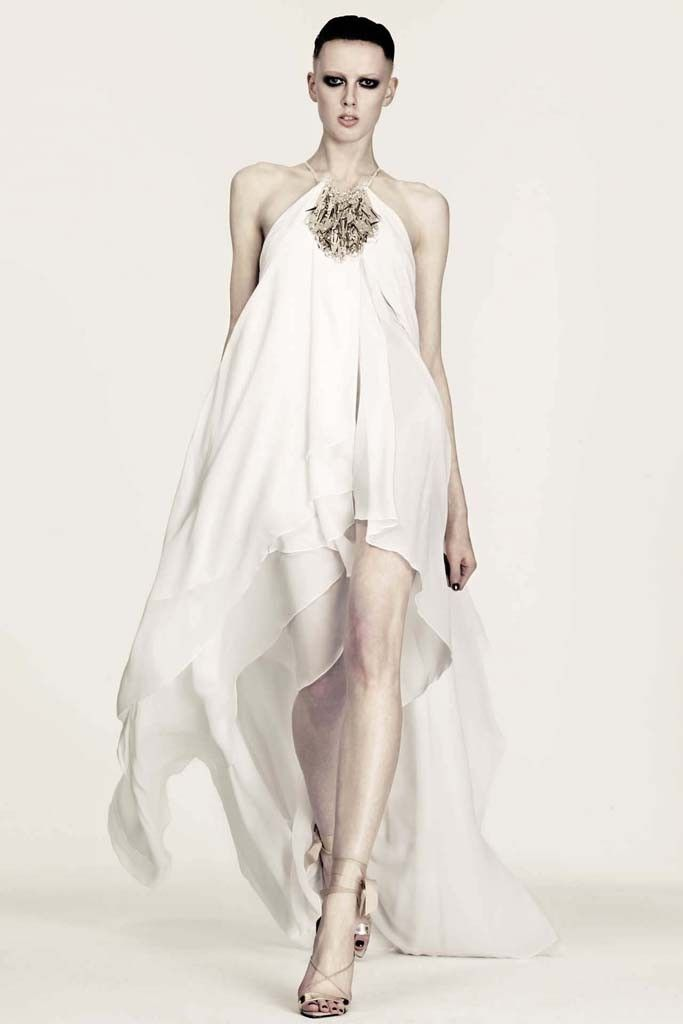 nearly white gowns perfect for the wedding Fashion Week inspiration julien mcdonald