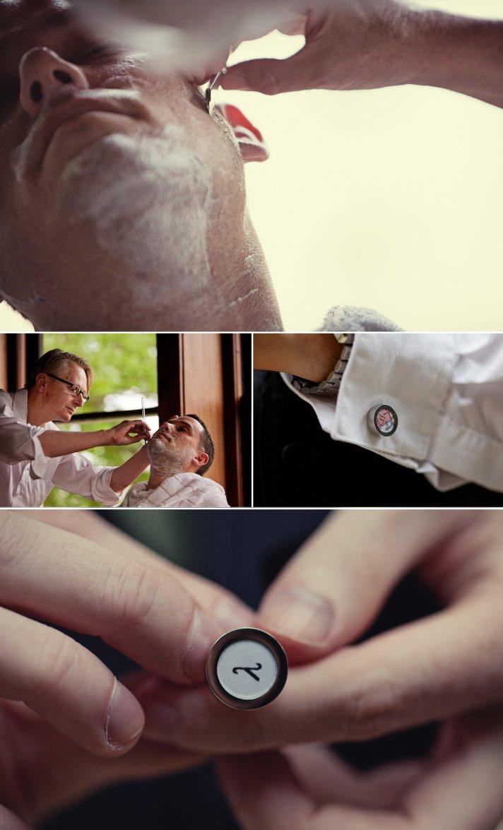 kansas city wedding groom gets ready