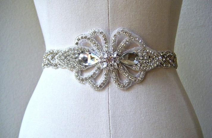 bejeweled bride wedding accessories bridal belt vintage inspired