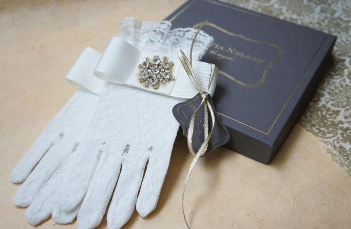 bejeweled bride wedding accessories vintage gloves