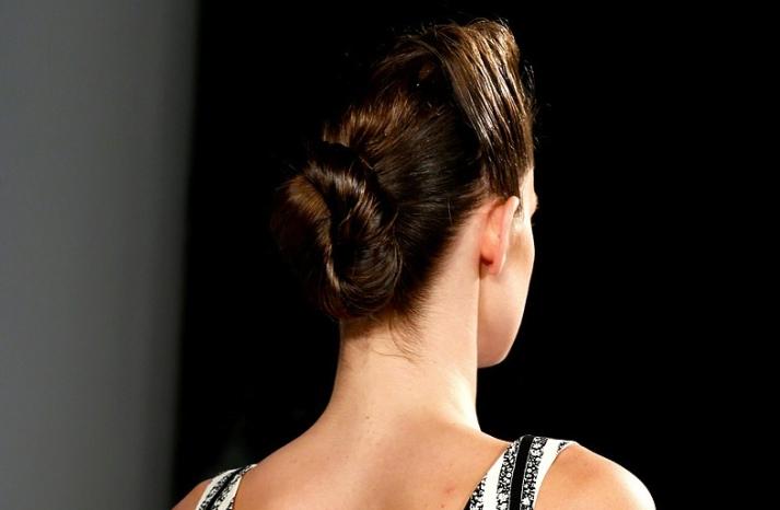 bridal updo wedding hair inspiration fashion week suno 7