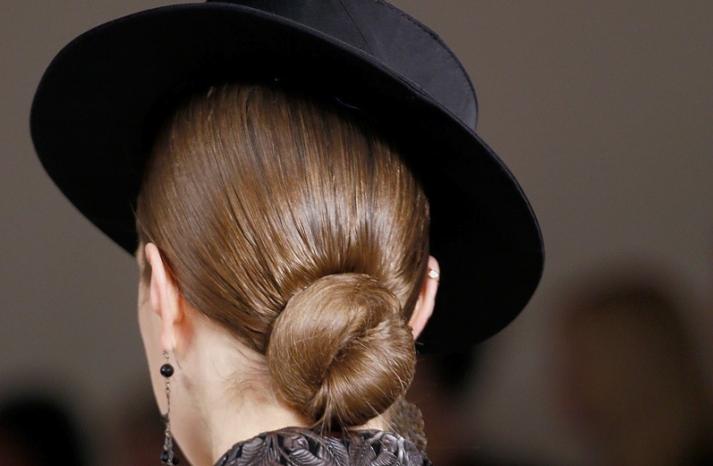 bridal updo wedding hair inspiration fashion week ralph lauren 5