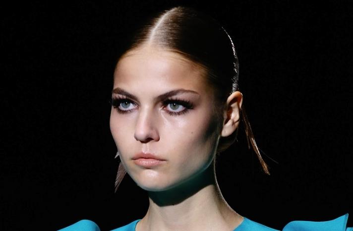 bridal updo wedding hair inspiration fashion week Gucci 1