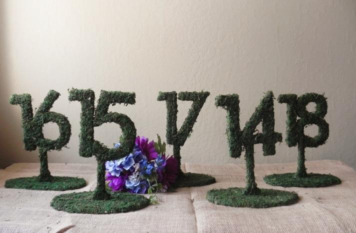 rustic moss wedding ceremony reception decor eco friendly 1
