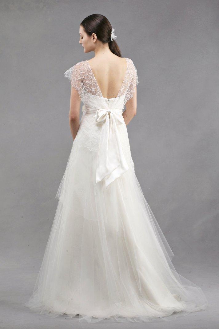 wedding dress by Jenny Yoo Spring 2013 bridal Bianca lace bolero