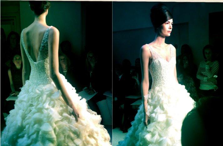 instagram shots from bridal fashion week Spring 2013 wedding dresses 6