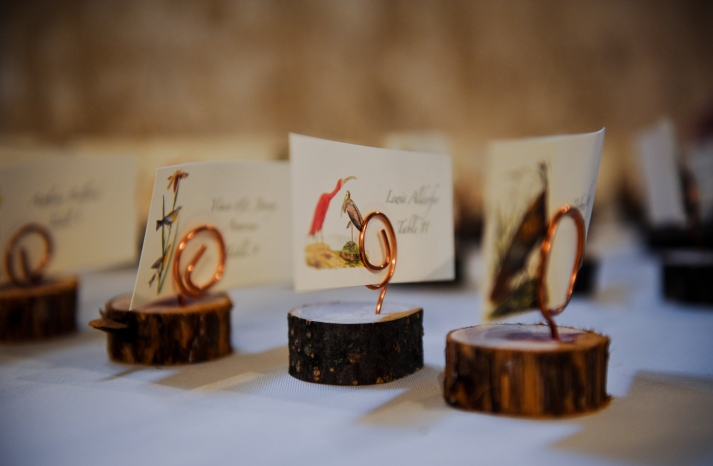 eco friendly wedding finds recycled on Etsy rustic escort cards