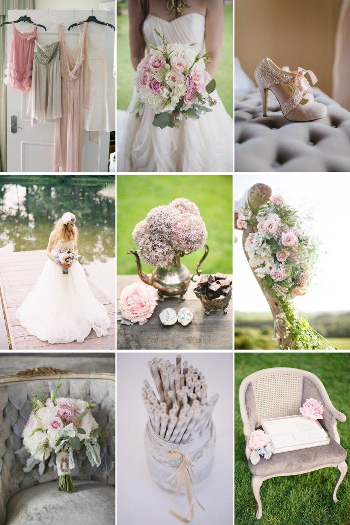 Romantic Wedding Color Palette Soft Sweet