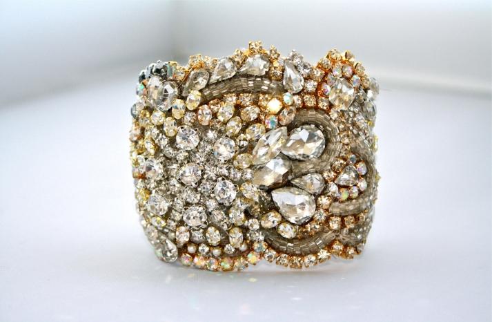 bridal cuff bracelet handmade wedding accessories 5