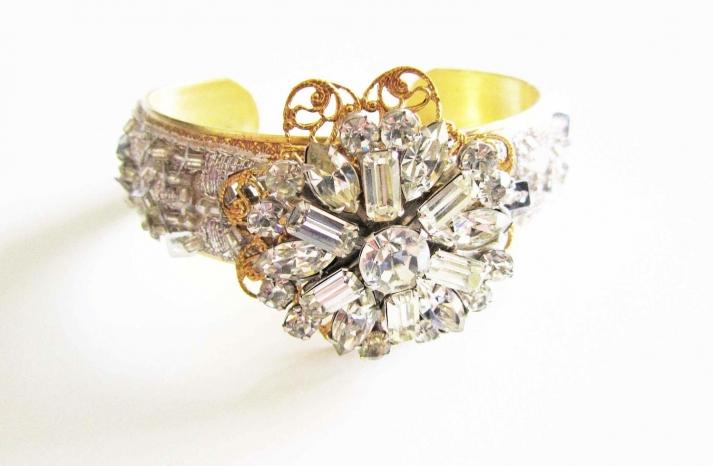 bridal cuff bracelet handmade wedding accessories 15
