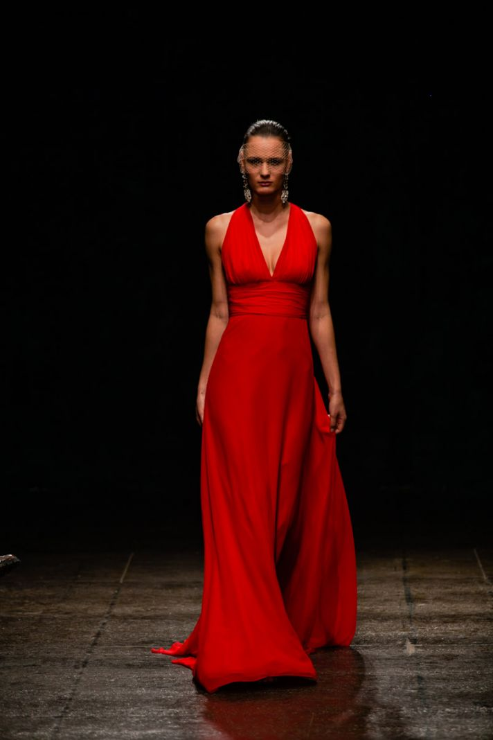 Spring 2013 bridesmaid dress Noir by Lazaro bridal fire engine red