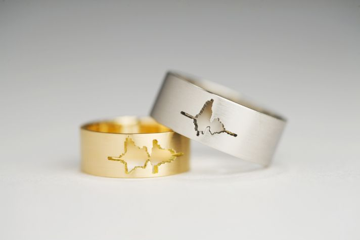 unique wedding rings meaningful gifts for bride or groom his and hers