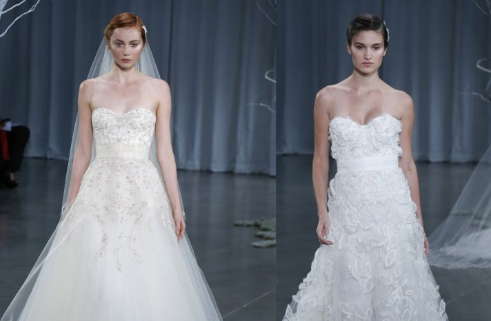Wedding Hairstyle Trends from Fall 2013 Bridal Market simple sweet updo Monique Lhuillier