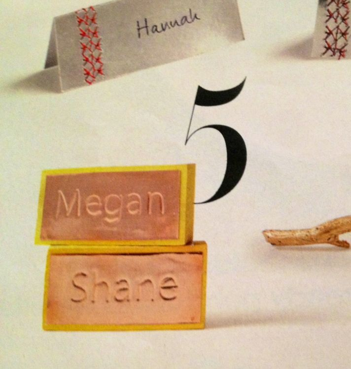 3 unique wedding ideas for escort cards Embossed
