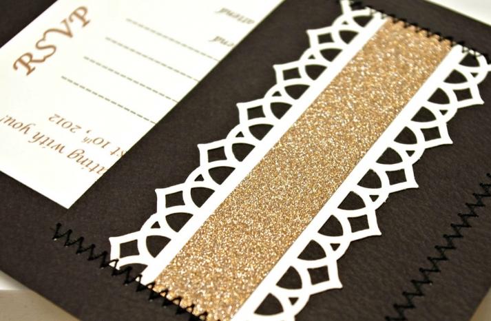 Glittery Gold Wedding Finds for Glam Handmade Weddings RSVP