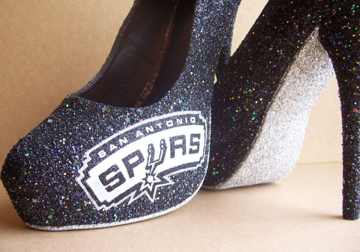 Funky Wedding Shoes for Sports Loving Brides Spurs
