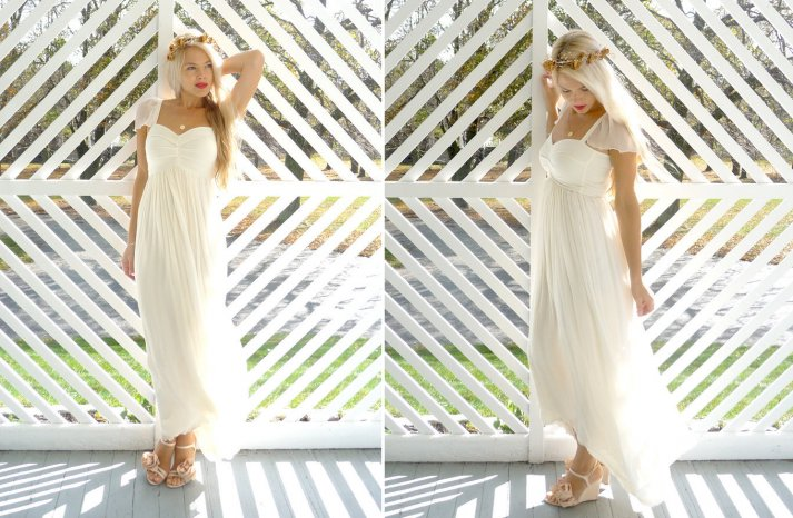 Sleeved Wedding Dresses on Etsy 2