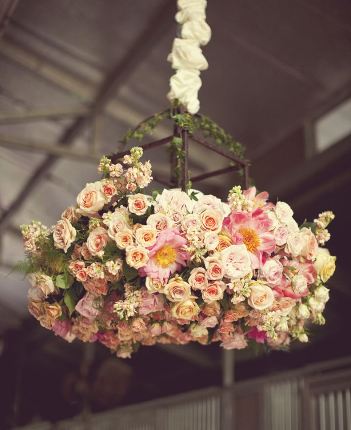 Romantic Garden Wedding Ideas In Bloom: Romantic Wedding Ideas We Love: Floral Chandeliers For The