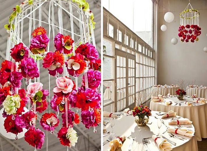 wedding ideas we love floral adorned chandeliers 6