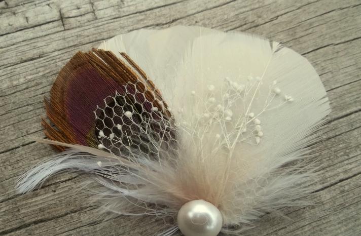 Rustic Wedding Ideas Woodland Weddings by Etsy feather fascinator