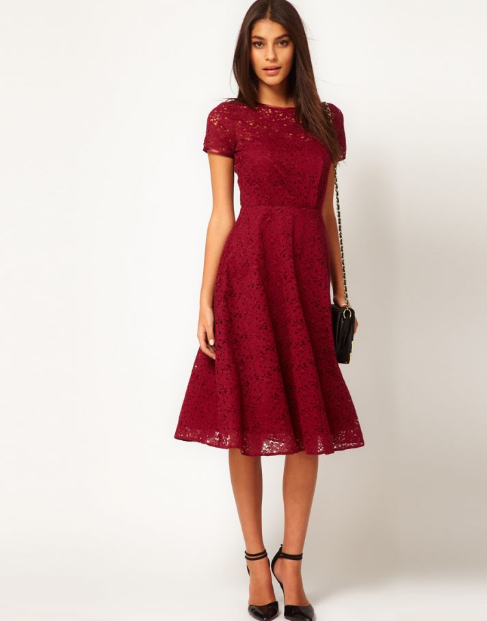 Stylish Bridesmaid Dresses from Asos 2013 Bridal Party Trends red lace