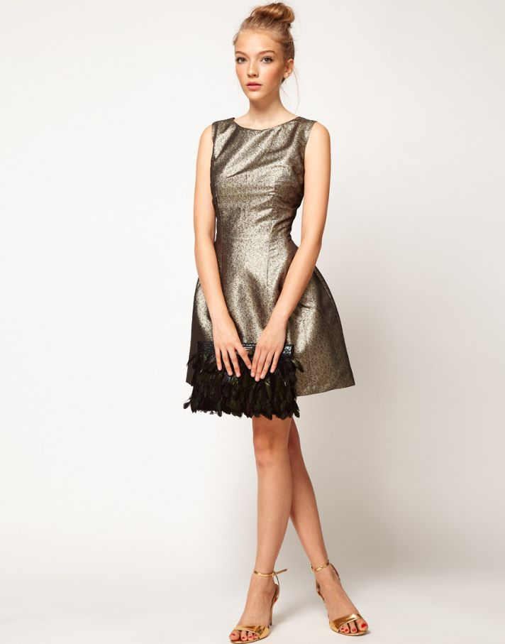 Stylish Bridesmaid Dresses from Asos 2013 Bridal Party Trends Metallics