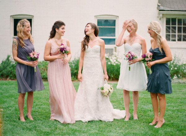 Wedding Color Inspiration Charcoal Gray Blush Pink