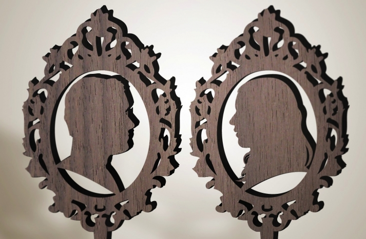 Handmade Wedding Finds Laser Cut cake toppers silhouettes