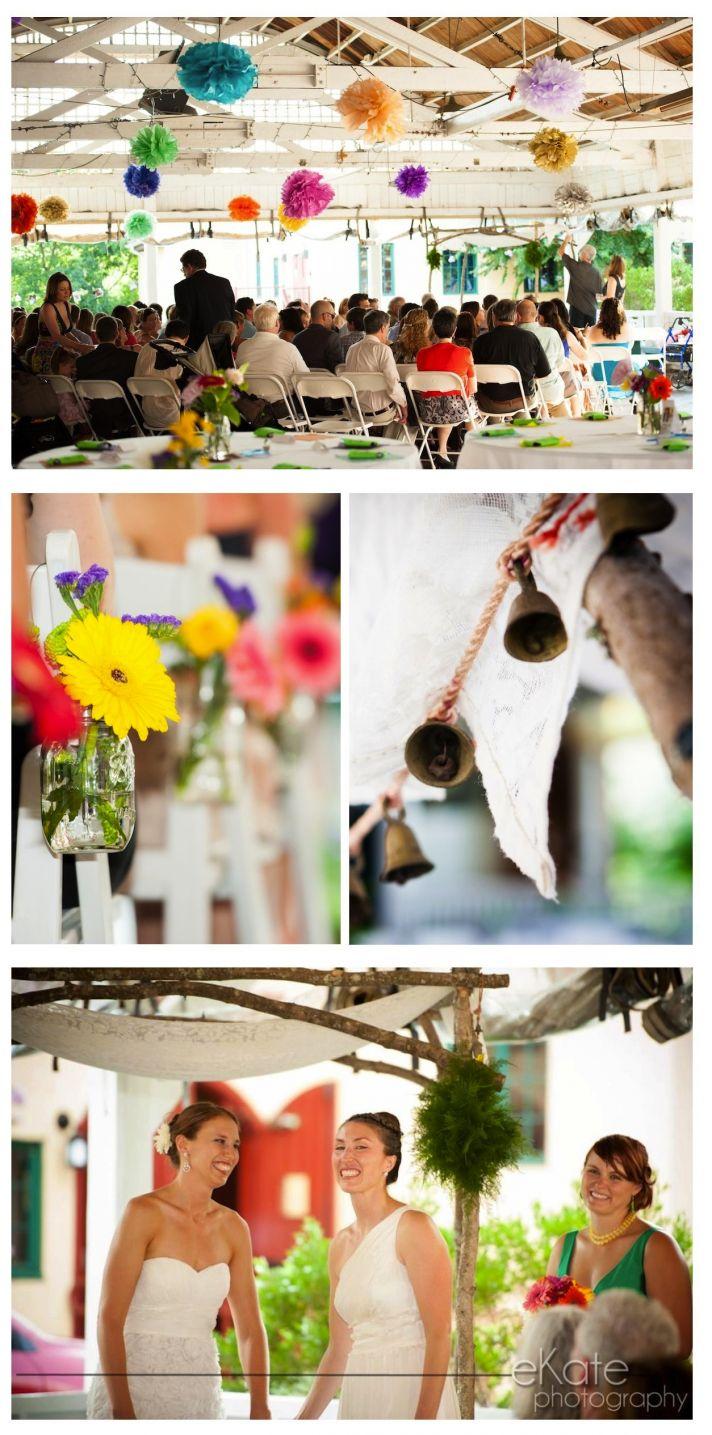 real wedding EKL daleywarden washington dc ceremony flowers couple
