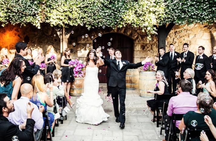Romantic Outdoor Wedding Ceremony Bride Groom Exit