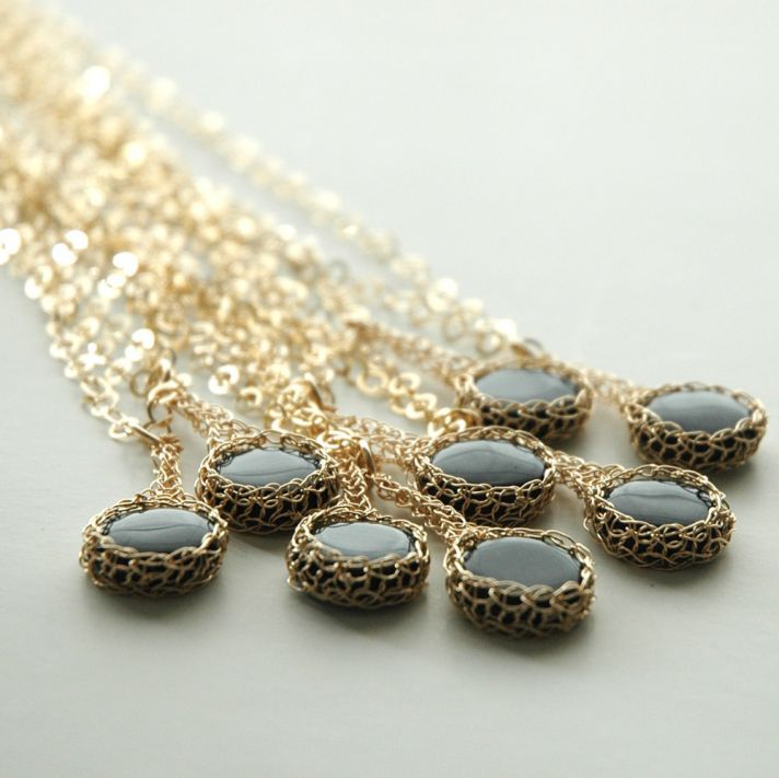 Black and Gold Bridesmaid Jewelry