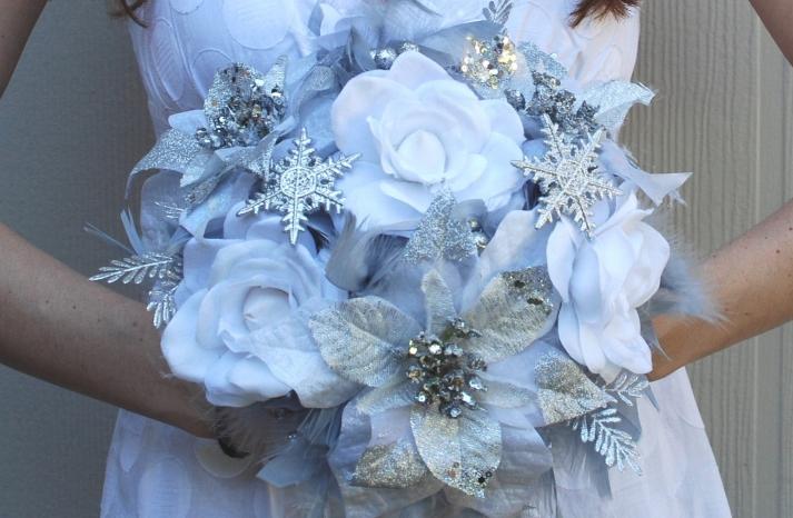 Alternative Bridal Bouquet Winter Wonderland Wedding